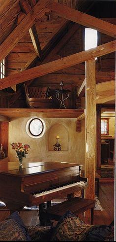 Cob House Interior | Rustic cob interior