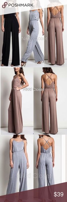Spotted while shopping on Poshmark: criss cross high waist jumpsuit jumper backless! #poshmark #fashion #shopping #style #Boutique #Pants