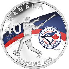 Buy Now on eBay: http://ccfgo.com/2016BlueJays  RCM New Releases: 2016 Silver Coin – Celebrating the 40th Season of the Toronto Blue Jays - Coin Community Forum