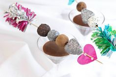 Sprinkle Bakes: Cupid's Truffle Skewers for The Etsy Blog...going to use chocolate nutbutter seed balls as truffles