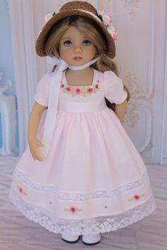 Pretty Dolls, Beautiful Dolls, Girl Dolls, Baby Dolls, Cotton Frocks, Spring Girl, American Doll Clothes, Doll Parts, Crochet Dolls