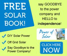Free 18-page report to help you learn about solar: SOLAR FREEDOM AND SURVIVAL GUIDE. Solar power can help you get off the grid, say goodbye to the power company, and achieve energy independence for you and your family.