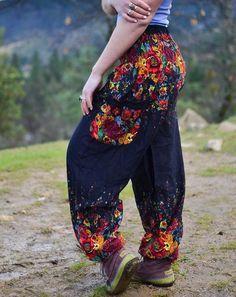 Flowered Harem Pants $24.99