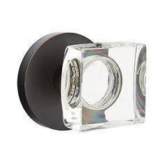 Emtek square crystal disk. Door Knobs, Pulls & Handles We Love at Design Connection, Inc. | Kansas City Interior Design http://www.DesignConnectionInc.com/Blog