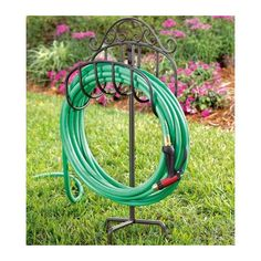 Found it at Wayfair - Wrought Iron Hose Holder with Ground Stake