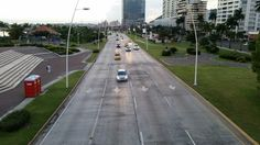 MAIN ROAD IN PANAMA CITY #panama #panamacity #road #traffic