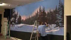 Watch Kevin paint this large winter mural! He did this painting with acrylic paint. For more painting tips, brushes, instructional DVDs and paint go to www.paintwithkevin.com