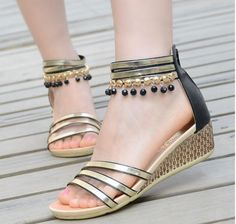 Casual handmade beaded sandals