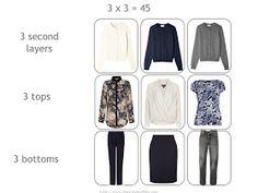 3 x 3 = 45 in a Six Pack Travel Capsule Wardrobe