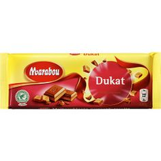 Are you feel at home among pirates, ghosts and treasure chests, you probably know that 'Dukat' is a gold coin. But that's not all. It is also the name of a particularly good mix of Marabou Milk Chocolate and softest nougat. A true little gem!