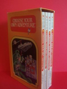 Remember these?  Choose Your Own Adventure books!
