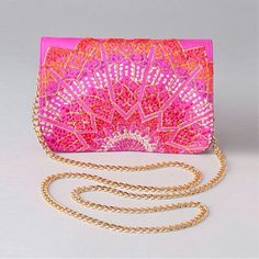 Azizah embroidered mini clutch - Francesca's