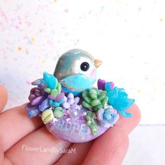 Good vibes bird, Hope. One of a kind by FlowerLandbySaraM, $40.00 USD