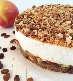 Just Apple Cheesecake - Oh My Pie! - Healty fitness home cleaning Healthy Pie Recipes, Healthy Sweets, Apple Recipes, Healthy Baking, Sweet Recipes, Cake Recipes, Dessert Recipes, Healthy Foods, Healthy Life