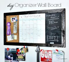 DIY Large Organizer Wall Board for under $30 (inspired by Pottery Barn)