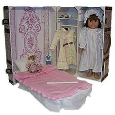 Pretty in Pink Doll  Storage trunk! It works as an American girl doll room and it's portable!
