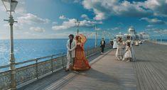 Sweeney Todd: The Demon Barber of Fleet Street Production Design by Dante Ferretti Sweeney Todd, The Sweeney, Sea Dress, Memoirs Of A Geisha, Johnny Depp Movies, Fleet Street, Movie Shots, Epic Movie, Movie Costumes