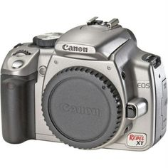 Canon Digital Rebel XT 8MP Digital SLR Camera (Body Only - Silver)