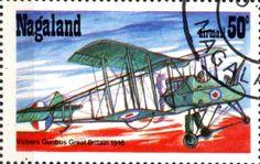 Stamp: Vickers Gunbus Great Britain 1916 (Cinderellas) (Nagaland) Col:ND 1978-01/7
