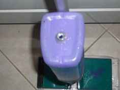 Swiffer bottle hack! - drill hole and plug with various items - don't have to remove bottle to refill - see comments