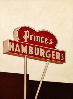 Prince's Hamburgers - Acrylic on Canvas