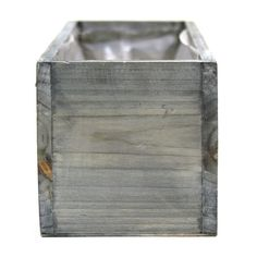 12 x 4 Rectangular Wood Vase - Rustic Gray [424462] : Wholesale Wedding Supplies, Discount Wedding Favors, Party Favors, and Bulk Event Supplies