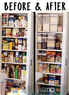 Organisation Hacks, Kitchen Organization Pantry, Kitchen Storage, Organized Pantry, Basket Organization, Organize Kitchen Cupboards, Organize Small Pantry, Organization Ideas For The Home, Storage Ideas