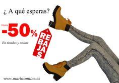 Descubre nuestras rebajas, tanto en las tiendas como en www.marlosonline.es  #rebajas   #rebajasdeenero   #rebajasenero2015   #rebajas2015   #rebajasenmarlos   #marlosshoes   #marlos2015   #marlosonline   #tiendasmarlos   #calzadoycomplementosmarlos   #venalasrebajas   #calzado   #zapatos   #shoes