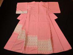 Japanese Vintage Kimono , SILK , Light pink ,Simple , P012707    eBay