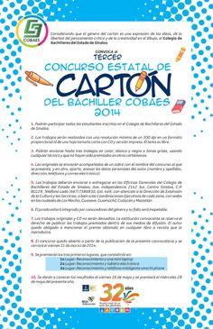 Tercer Concurso Estatal de Cartón del Bachiller #COBAES 2014. ¡Participa!