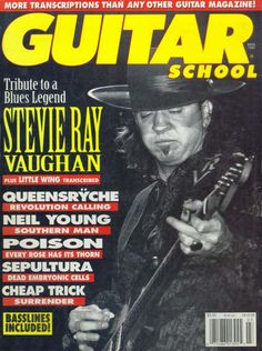 Stevie Ray Vaughan Helicopter Crash | GUITAR SCHOOL - 1992