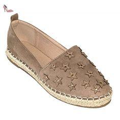 dabe73af7d20 Espadrilles femme en suédine & corde avec motifs étoiles & clous-40 -  Chaussures primtex