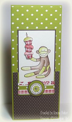 Sock monkey card