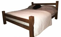 Handmade solid wood low panel bed frame by solidwoodfurnishing