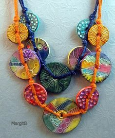 Multicolored Discs | Polymer Clay Necklace | Margit Böhmer | Flickr