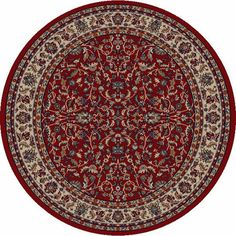 Concord Global Jewel Kashan Red (4060) Area Rugs