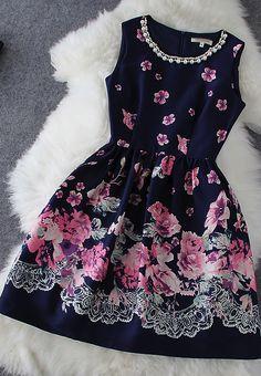 Pearl print dress