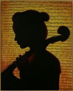 Silhouette with Cello