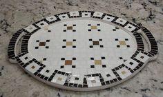 Bandeja con mosaico veneciano estilo clásico