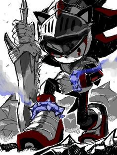 Did anyone think that Sir Lancelot (Shadow) was the easiest/ one of the easiest to play as in Sonic and the Black Knight? Shadow The Hedgehog, Sonic The Hedgehog, Silver The Hedgehog, Shadow And Maria, Shadow And Amy, Shadow 1, Sonic Fan Characters, Video Game Characters, Sonic Franchise