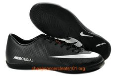 Black White Nike Mercurial Victory IV ACC IC Indoor Soccer Shoes