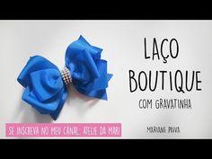 LAÇO BOUTIQUE COM GRAVATINHA - FÁCIL DE FAZER E VENDE MUITO - YouTube