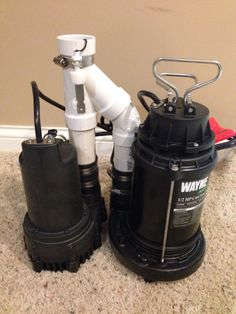 Quot Dual Pump Pack Quot Sump Pump System With Battery Backup And