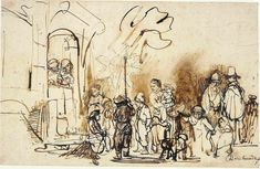 Rembrandt Drawings | Three signed drawings not accepted as the work of Rembrandt but ...