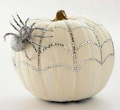 Bedazzled Pumpkin for DIY - 7 Beautiful DIY Pumpkins for Halloween