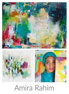 Abstract Painter Amira Rahim. Artist Spotlight