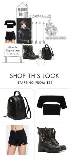 """Untitled #232"" by melanie-abradam ❤ liked on Polyvore featuring Gucci, T By Alexander Wang and RED Valentino"