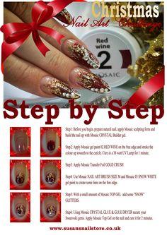 Day 1 SBS Christmas Nail Art, 12 Days Of Christmas, Fingernail Designs, Cool Art, Fun Art, Art Challenge, Nail Tutorials, Nail Artist, Natural Nails