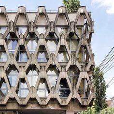 Library of the Romanian Academy, (formerly Biblioteca Academiei R.S.R), Cluj-Napoca, Romania, built in 1976, Architects Eliza Fierlinger, Radu Spanu