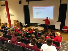 a3994d3115e6 Education Worker Noam Devey delivering our educational workshop to pupils  from Ysgol Rhos Helyg   Queensferry CP School at Deeside Collage